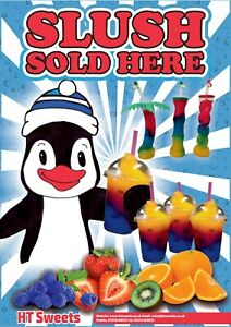 sold-here-Poster-SLUSH-ORANGE-HOT-DOG-ICE-CREAM-SNOW-CONE-COFFEE-CANDY