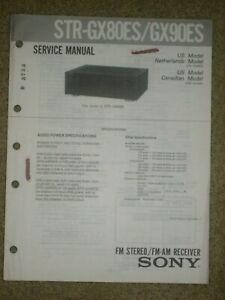 Sony STR-GX80ES/GX90ES FM-AM Stereo Receiver Service Manual