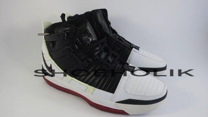 new product 1040f 31bcc DS NEW Original 2005 Nike Zoom Lebron Lebron Lebron 3 III White Black - Sz  9.5 312147-101 a7c85d
