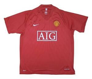 Manchester United 2007-09 ORIGINALE Maglietta (BUONO) XL soccer jersey