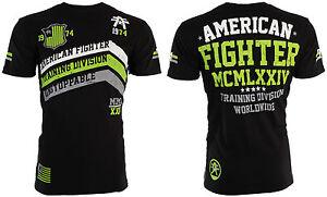 AMERICAN-FIGHTER-Mens-T-Shirt-CORNER-Athletic-BLACK-GREEN-Biker-Gym-MMA-40
