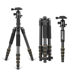 Zomei Q666C Heavy Duty Carbon Fiber Travel Tripod Lightweight for DSLR Camera