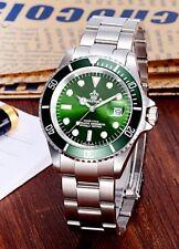 U.K. Green Reginald Quartz Stainless Steel Sports Divers Watch