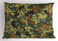 Camo Pillow Sham Decorative Pillowcase 3 Sizes Bedroom Decor Ambesonne