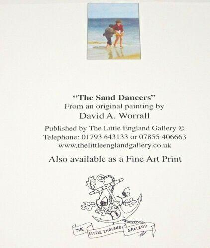 """/""""Le sable Dancers/"""" par Little Angleterre Galerie Carte Vierge par David Worrall"""