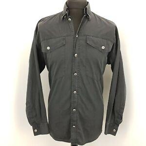 Versace-Classic-V2-Mens-Shirt-Vintage-S-SMALL-Long-Sleeve-Black-Regular-Cotton