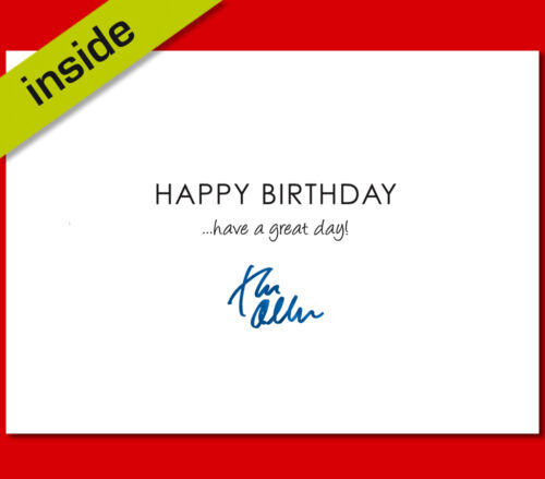 TOM ODELL BIRTHDAY CARD Top Quality Repro Autograph Signed A5