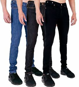 MENS-SUPER-SKINNY-STRETCH-DENIM-JEANS-BRANDED-by-AD-28-30-32-34-36-38-40