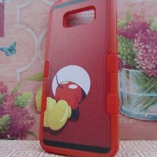for Samsung Galaxy S8 Plus Red Rugged Hybrid Armor Cover Case Mickey Mouse #B