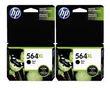 GENUINE NEW HP 564XL (CN684WN) Black Ink Cartridge 2-Pack