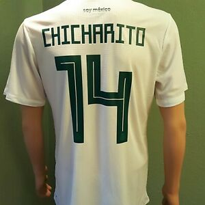 289d9dacae8ac Details about Chicharito #14 Mexico Home Men's Soccer Jersey 2018 White
