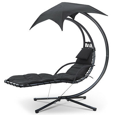 Garden Swing Helicopter Hammock Hanging Dream Chair Seat Sun Lounger Bed Canopy
