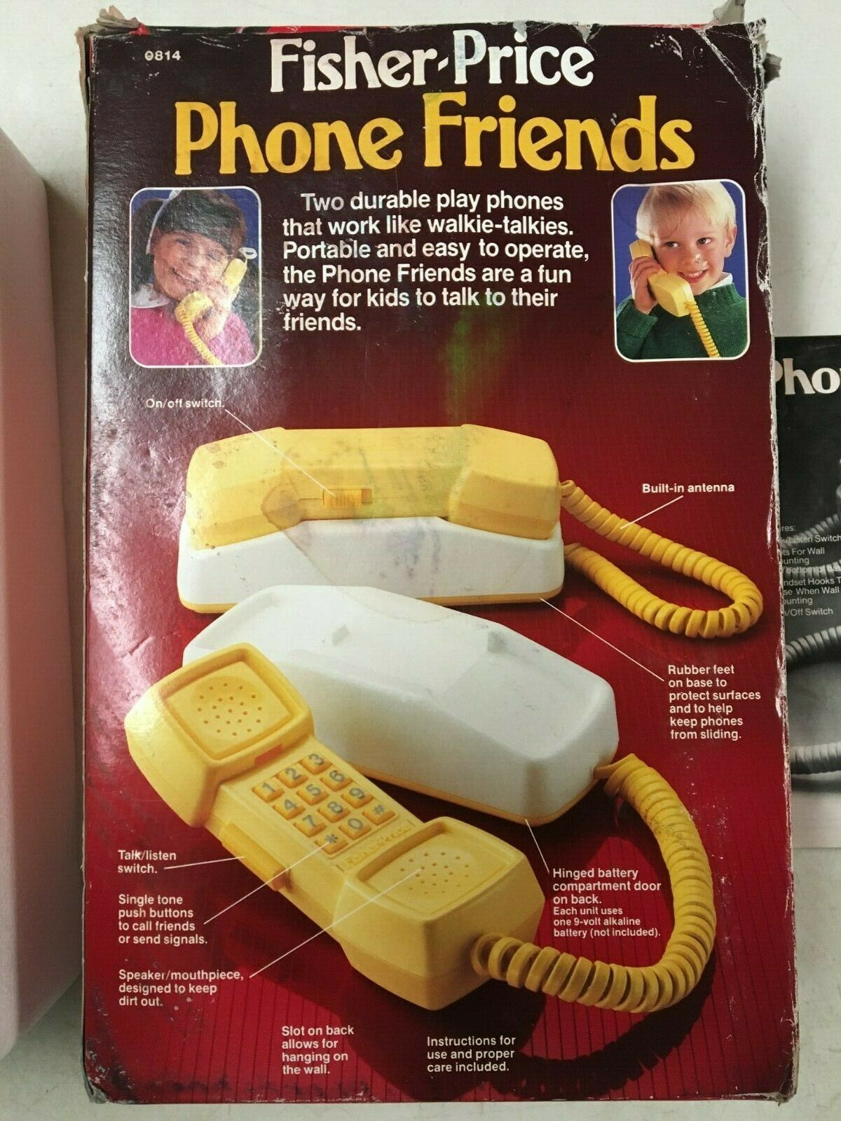 NIB FISHER PRICE VINTAGE PHONE FRIENDS WALKIE TALKIES PLAY PHONES 1984  0814