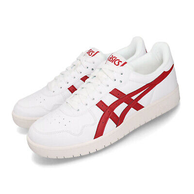 asics tiger japan s white red men classic casual shoes
