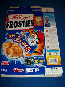 LOST IN SPACE British FROSTIES Cereal Box w//3-D Action Card Promotion Kellogg/'s
