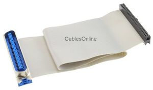 12-034-CN50-50-Pin-Male-to-IDC50-50-Pin-Female-Ribbon-Cable-CablesOnline-FS-1012