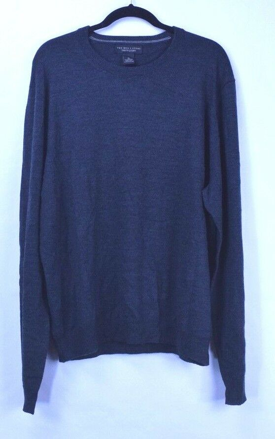 Bloomingdale's Men's 100% Merino Wool Sweater Size XL Dark Grey New with Tags