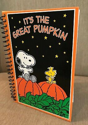 Snoopy Peanuts Woodstock Notebook Journal It's The Great Pumpkin RARE Halloween