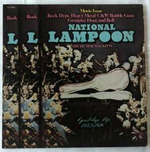 NATIONAL-LAMPOON-Good-Bye-Pop-PROMO-COPY-1976-PE33956