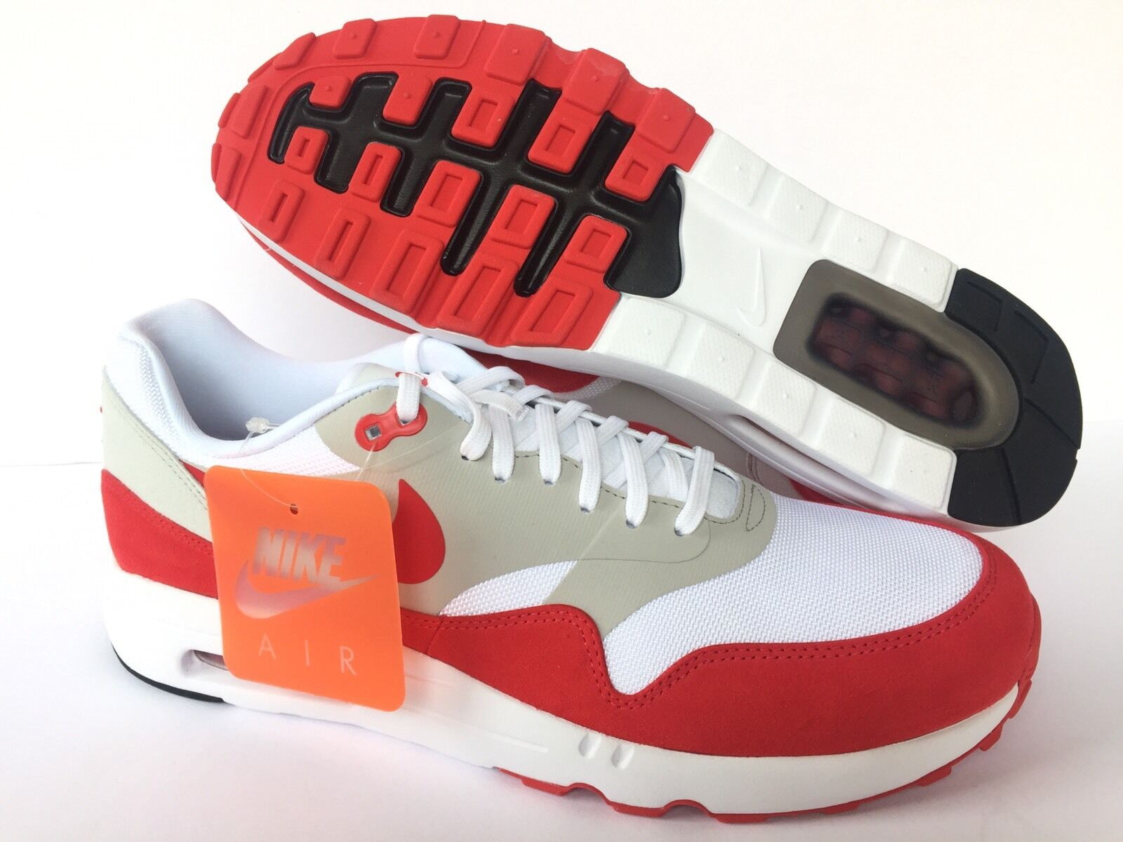 NIKE AIR MAX 1 ULTRA 2.0 LE NEW WHITE/RED Price reduction US MEN Price reduction Wild casual shoes