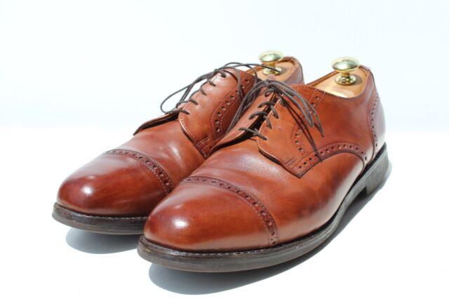 Allen Edmonds Gentleman's 10E Corporate Casual Brown Cap Toe Shoes -USA- $295.00