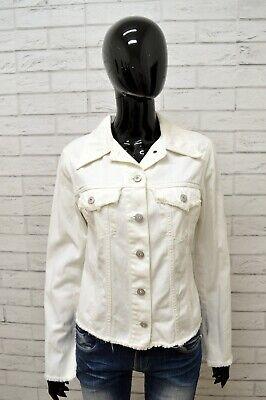Coscienzioso Giubbino Jeans Liu Jo Donna Taglia S Giubbotto Giacca Jacket Woman Cotone Bianco