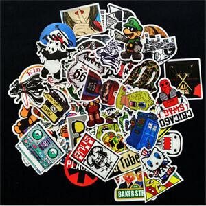 10pcs-Cartoon-Stickers-Skateboard-Vinyl-Skate-Laptop-Luggage-Auto-Car-Body-Decor