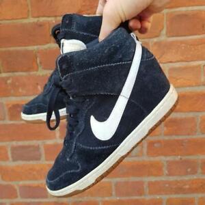 Womens Nike Dunk Sky Hi wedge black