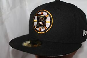 Boston-Bruins-New-Era-NHL-Basic-Solid-59fifty-Cap-Hat-Fitted-41-99-NEW