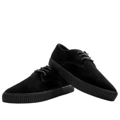 A9277 TUK New Rare Men Shoes EZC Pointed Black Suede Creeper Sneaker T.U.K