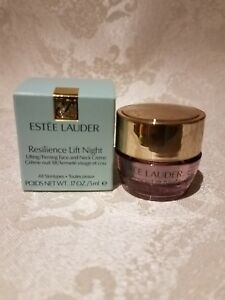 Estee-Lauder-RESILIENCE-LIFT-NIGHT-Firming-Face-and-Neck-Cream-Travel-0-17oz-NEW