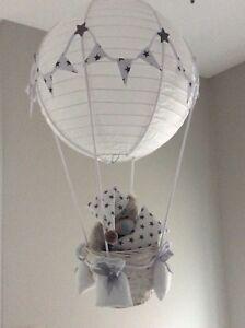 Details About Hot Air Balloon Nursery Light Shade Grey