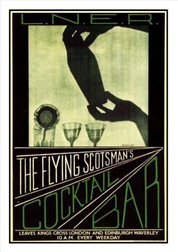 The Flying Scotsman Railway Vintage Retro Oldschool Old Good Price Poster