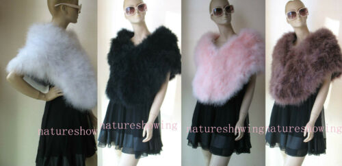Women  Real Ostrich Feather Cape//Coat //Fluffy  party //4color150*42