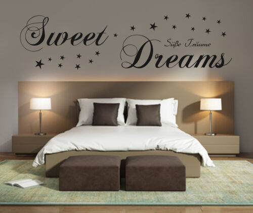 Wandtattoo Schlafzimmer Sweet Dreams  Süße Träume 90588c Wand Spruch Sterne