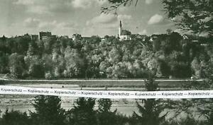 Pullach - Blick auf die Stadt über die Isar - um 1925      V11-8