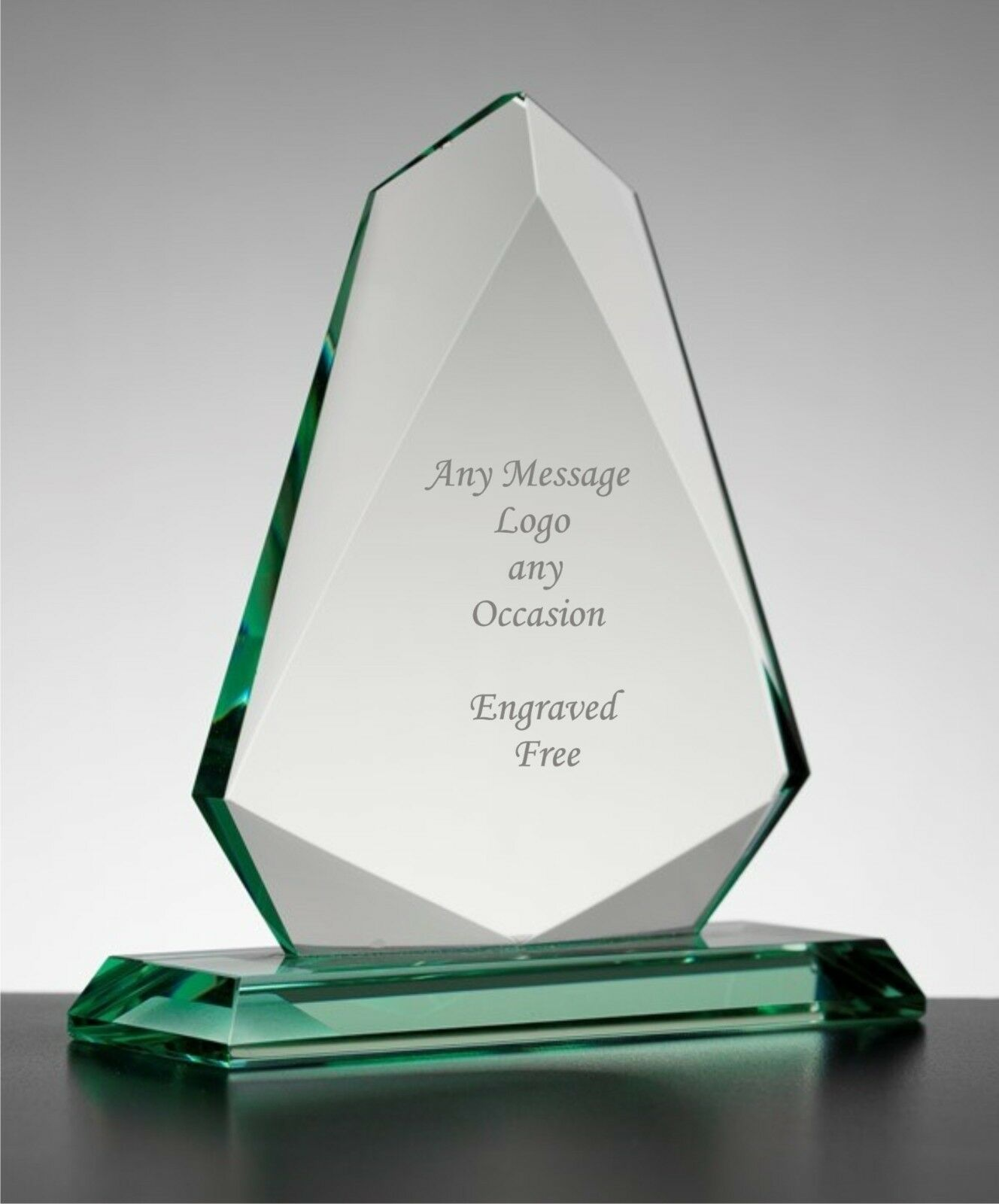 Personalised Engraved Arrow Jade Glass  Award Trophy,  Corporate Gifts,