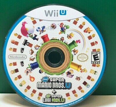 New Super Mario Bros U New Super Luigi U Nintendo Wii U Disc