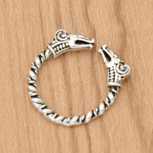 Antique-Silver-Viking-Dragon-Rings-For-Men-Adjustable-Mythology-Gothic-Jewelry