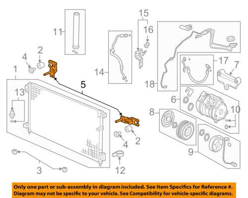 A//C AC Condenser//Compressor//Line-Condenser Upper Bracket Right 80111SDNA01