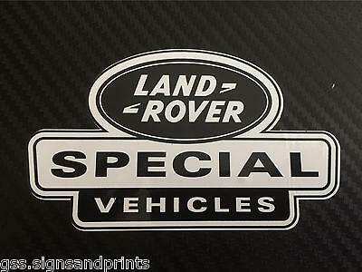 3X 105X60MM LAND ROVER DEFENDER DISCOVERY SPECIAL VEHICLES DECAL STICKER BW
