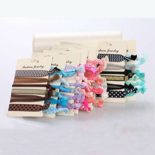 6Pcs//pack Colorful No Crease Hair Ties Ponytail Bracelets Hairband Rope charm P
