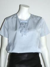 MIU MIU BY PRADA BLUSE SEIDE HIMMELBLAU BLOUSE SILK IT:48 GR:40/42 NEU !!!
