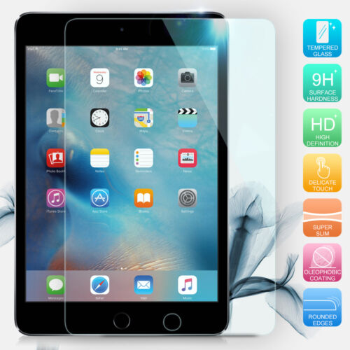 """Tempered Glass Screen Protector for Apple iPad 9.7/"""" 11/"""" 2018 2017 Air Mini 4 Pro"""