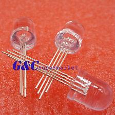 10Pcs Led Rgb 10Mm Common Cathode 4-Pins Super Bright Bulb Lamp mh
