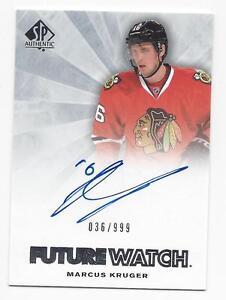 2011-12-SP-Authentic-autographed-hockey-card-Marcus-Kruger-Chicago-Blackhawks