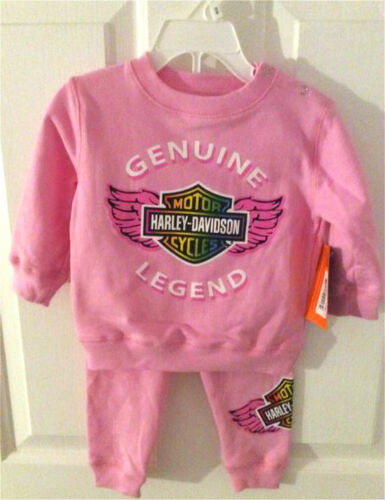 Harley-Davidson® Infant /& Toddler Girls Pink Genuine Legend Jog Set 2010898