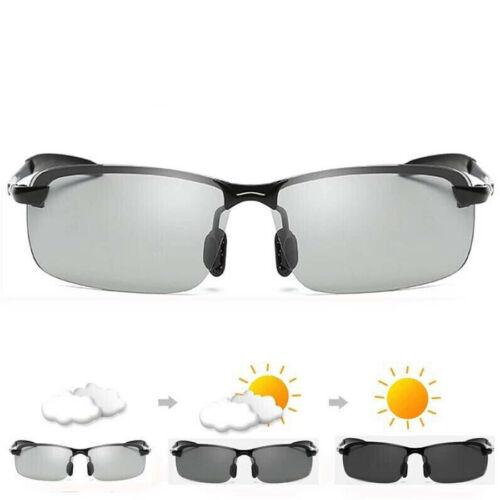 Day Night Vision Mens Photochromic Polarized Sunglasses Driving UV400 HD Glasses