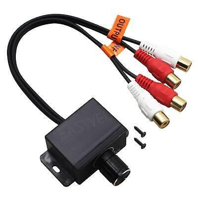 Car Home Audio Amplifier Bass RCA Gain Level Volume Control Knob LC-1 Black Q7S1