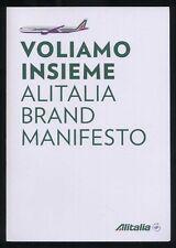 Alitalia Brand book Airline design stewardess uniforms poster advertising ax